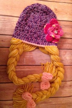 Rapunzel Princess Hat  Purple by WillowHillKidsToo on Etsy, $25.00