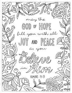 Great Adult Bible Coloring Pages 53 God of Hope Coloring