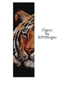 Peyote Stitch Bracelet Pattern  Tigress Buy 2 by KFSDesigns, $6.50