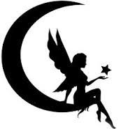 Die Cut Silhouette Moon Fairy With Stars Topper X 6 for Cardmaking Crafts for sale online Moon Silhouette, Fairy Silhouette, Silhouette Images, Deer Head Silhouette, Ballerina Silhouette, Silhouette Vector, Fairy Templates, Fairy Lanterns, Moon Fairy
