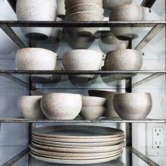 Sue Paraskeva Porcelain + Stoneware from Herriott Grace // Nikole Herriott Dinner Table, A Table, Earthenware, Stoneware, Raw Living, Food Photography Props, Kitchenware, Tableware, Kitchen Supplies
