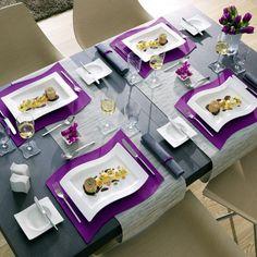 New Wave Gourmet plate, cm - Villeroy & Boch @ RoyalDe.- New Wave Gourmet plate, cm – Villeroy & Boch @ RoyalDesign - Modern Dinnerware, Purple Dinnerware, Modern Serveware, Purple Kitchen, Welcome To My House, Modern Table, Elegant Homes, Decoration Table, Home Decor Kitchen