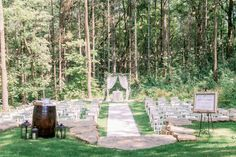 Ceremony site nestled in the forest Vintage Country Weddings, Oak Hill, Woodland Forest, Fall Wedding, Table Decorations, Beautiful, Blush Fall Wedding, 秋のウェディング 装飾, Dinner Table Decorations
