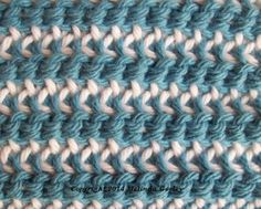 Double-Ended Hook Tunisian Crochet Stitch Patterns