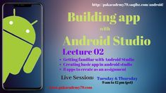 Android Lecture 02 | Building apps with android Studio | 2019 Android Application Development, App Development, Android Studio, Build An App, Made Video, Online Courses, Building Apps, Knowledge