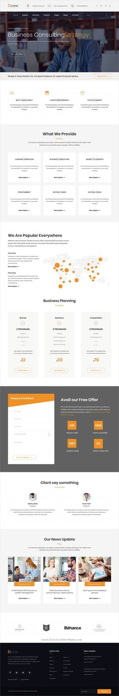 bcore is clean and modern design 2in1 responsive #bootstrap template for #business consulting and professional #services website download now..