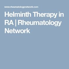 helminthic therapy treats