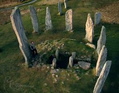 "coolkenack: ""Callanish standing stones on the Isle of Lewis Scotland by Topofly.com """