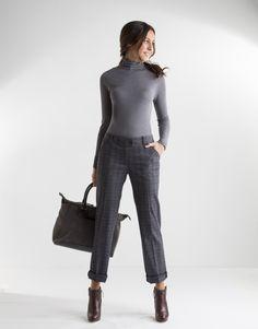 Resultado de imagen para pantalon gris mujer