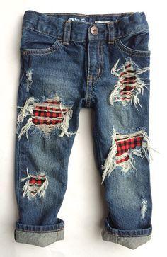 Buffalo Rad Jeans unisex distressed denim by DudleyDenim on Etsy