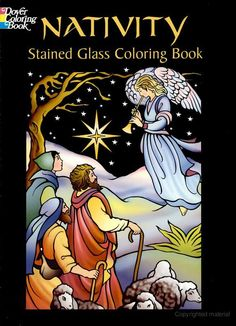 Nativity Stained Glass Coloring Book from Dover Publications