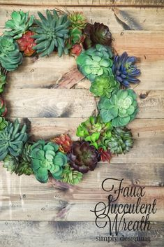 How to make a Faux Succulent Wreath - Pottery Barn Knock Off - such a fun and easy craft project