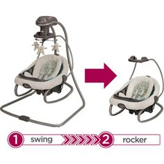 Graco DuetSoothe LX Swing + Rocker, Winslet @ Walmart....finally this is sold in stores as well as online!