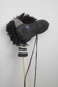 stick horses made from old socks