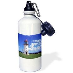 3dRose Kilauea Lighthouse, Kauai, Hawaii, USA - US12 DPB1193 - Douglas Peebles, Sports Water Bottle, 21oz
