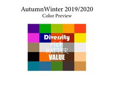 AutumnWinter 2019/2020 trend forecasting is A TREND/COLOR Guide that offer seasonal inspiration & key color direction for Women/Men's Fashon, Sport & Intimate Apparel #FashionTrendsForecasting