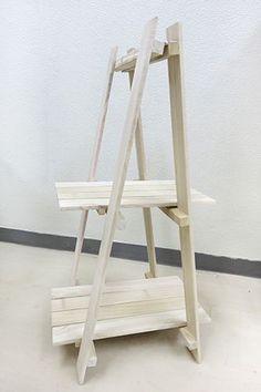 すのこ三角シェルフの完成!!