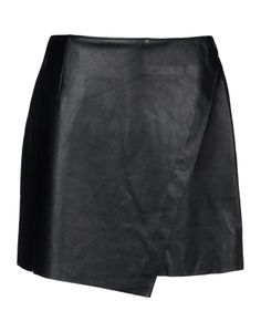 New Black Genuine Lamb Leather Skirt Seamless Front Mini Women ...