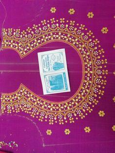 Imroz blouse designer 8096946242 Stone Work Blouse, Hand Work Blouse Design, Simple Blouse Designs, Blouse Designs Silk, Stylish Blouse Design, Designer Blouse Patterns, Bridal Blouse Designs, Sari Design, Purple Blouse