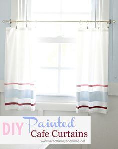 Love Of Family & Home: DIY Painted Cafe Curtain {Tutorial}