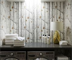 Wallpapered Laundry Rooms