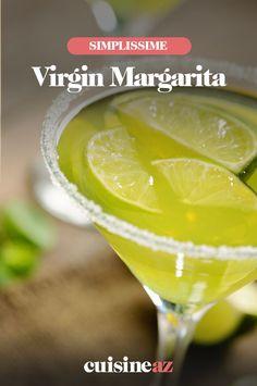 Une version du virgin margarita sans alcool avec du jus d'orange et de citron vert. #recette#cuisine#cockail#virginmargarita #sansalcool #cockailsansalcool Virgin Margarita, Jus D'orange, Cocktails, Drinks, Martini, Cantaloupe, Food And Drink, Fruit, Tableware
