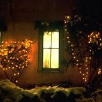 Christmas in Santa Fe - Music and Outdoor Recreation: Farolitos under window - Santa Fe