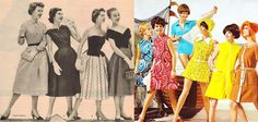 moda anos 60 feminina - Pesquisa Google