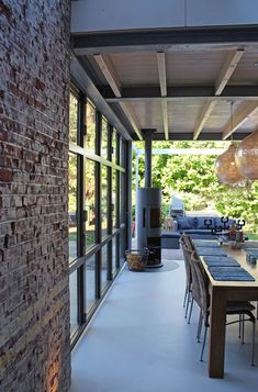 How to build a trendy and modern terrace Glass Extension, A Frame House, Bathroom Goals, Exposed Brick, My Dream Home, My House, Terrace, Pergola, Backyard