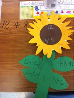 Fun Fact  Family Sunflowers - good for multiplication and division too!