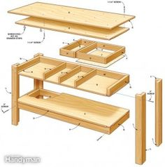 workbech with drawers free plans