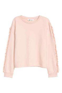 Sweatshirt with frills