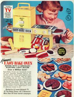 1960's Easy Bake Oven ad -- mini history of this toy at my blog