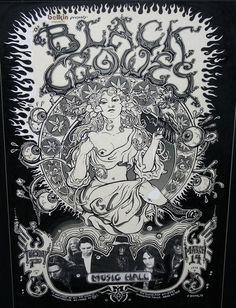 The Black Crowes Concert Poster Art by Emek Comic Art