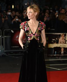 WHO: Cate Blanchett  WHAT:  Schiaparelli Couture  WHERE: BFI screening of Truth, London  WHEN: October 17, 2015
