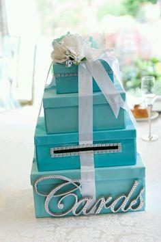 Super Wedding Card Box Table Tiffany Blue Ideas Super Wedding Card Box Table Tiffany Blue IdeasYou can find Tiffany wedding and more on ou. Card Box Wedding, Diy Wedding, Dream Wedding, Wedding Ideas, Wedding Flowers, Wedding Updo, Wedding Pictures, Wedding Details, Wedding Reception