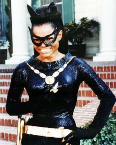 Eartha Kitt, Catwoman.  Kitt took over the role of CATWOMAN in the 3rd and final season of the 1966 BATMAN TV Show. Sadly, she passed away on Dec. 25th, 2008 at the age of 81.
