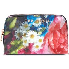 TED BAKER Alliss Focus Bouquet small wash bag (€21) ❤ liked on Polyvore featuring beauty products, beauty accessories, bags & cases, make up purse, ted baker makeup bag, makeup bag case, wash bag and cosmetic bags