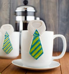Hanging Tie Cookies for Father's Day