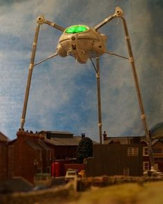 Here are some photos of my Martian Fighting Machine from the War Of The Worlds concept album. Concept Album, Model Maker, Sci Fi Ships, Classic Sci Fi, Movie Facts, Space Invaders, Science Fiction Art, Scary Movies, Retro Futurism
