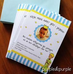 Le Petit Prens Temalı Doğum Günü Davetiyesi | Küçük Prens | Doğum Günü Süslemeleri | 1 yaş doğum günü hediyelikleri | 1 yaş parti süsleri | Küçük Prens (Le Petit Prince) temalı Parti | Le Petit Prince Birthday | Book Themed Parties | Le Petit Prince Themed Party