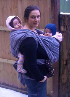 #didymos Wearing twins/siblings. I'll probably need to know how to do this one day when Ms. Bug becomes a big sister.