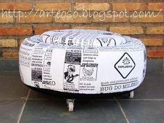 tire ottoman | SodaHead.com - how to make a Tire ottoman