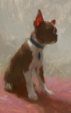 """""""Stella in Pink""""   10x 7 inches oil on panel - Aaron Westerberg"""