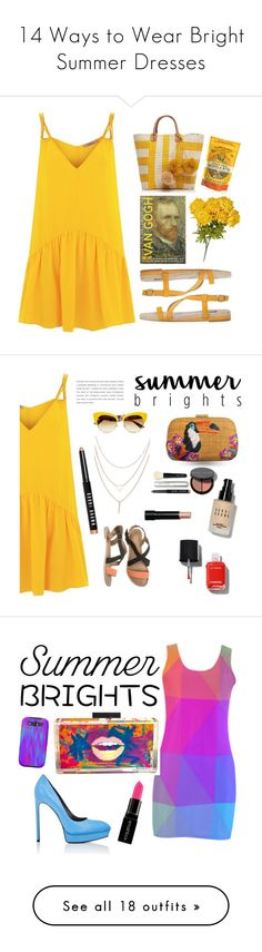 """14 Ways to Wear Bright Summer Dresses"" by polyvore-editorial ❤ liked on Polyvore featuring waystowear, summerbrights, Lazul, MANGO, Mar y Sol, Dolce&Gabbana, O'Neill, Serpui, Chanel and Bobbi Brown Cosmetics"