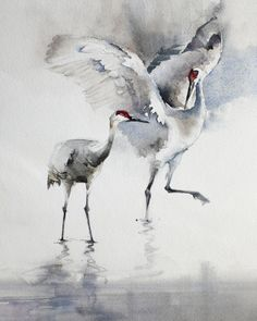 """""""Endless Song"""" 10 x 8 watercolor on rag by Kathryn Mapes Turner. Best Picture For Birds Drawing aest Watercolor Bird, Watercolor Animals, Watercolour Painting, Watercolours, Bird Drawings, Watercolor Techniques, Wildlife Art, Animal Paintings, Bird Art"""