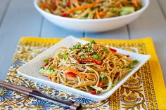 Sweet and Spicy Sesame Noodle Salad