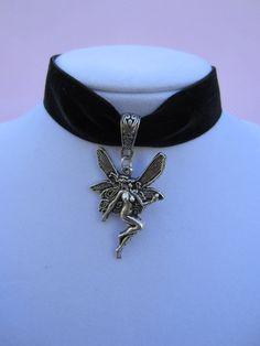 Gothic Black Velvet Fairy Choker by kittygatotreats on Etsy, $12.50