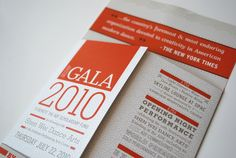 ADF Gala Invitation by Nicole Kraieski, via Behance