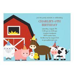 Farm Animal Birthday Invitation Inspirational Farm Animals Birthday Party Invitation X Invitation Farm Animal Party, Farm Animal Birthday, Farm Birthday, Birthday Ideas, Tractor Birthday, Barnyard Party, Cowgirl Birthday, Birthday Stuff, Teen Birthday